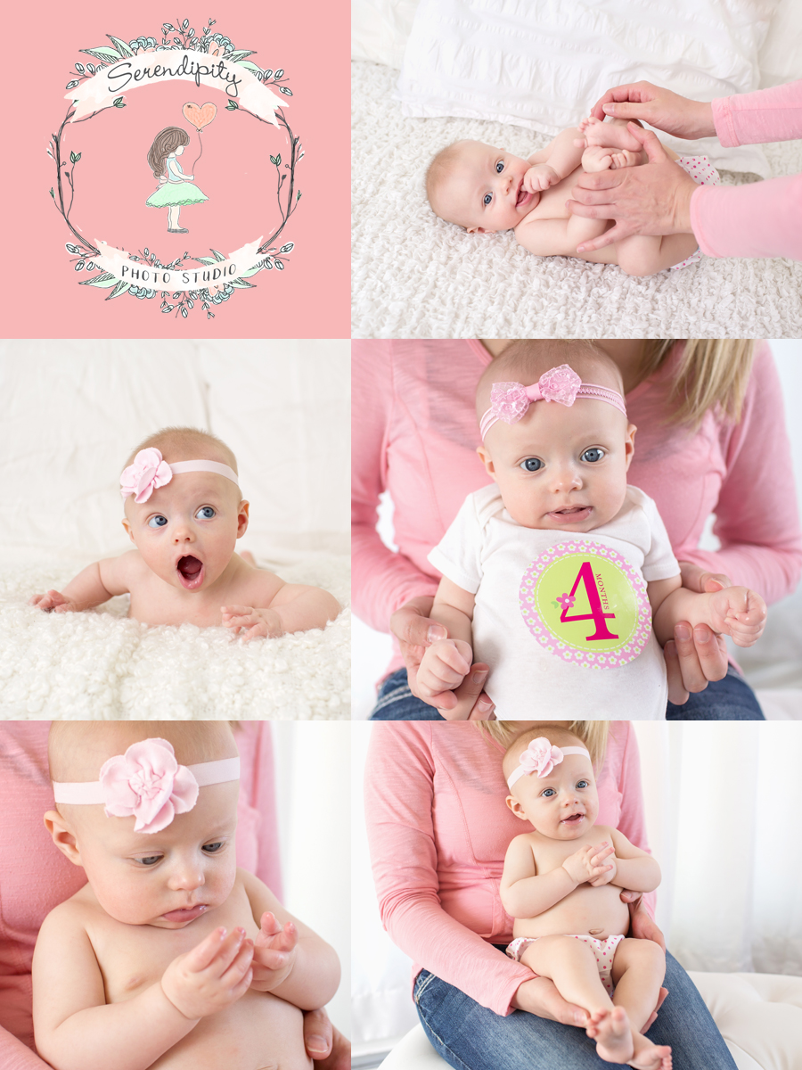 4 month photoshoot baby girl